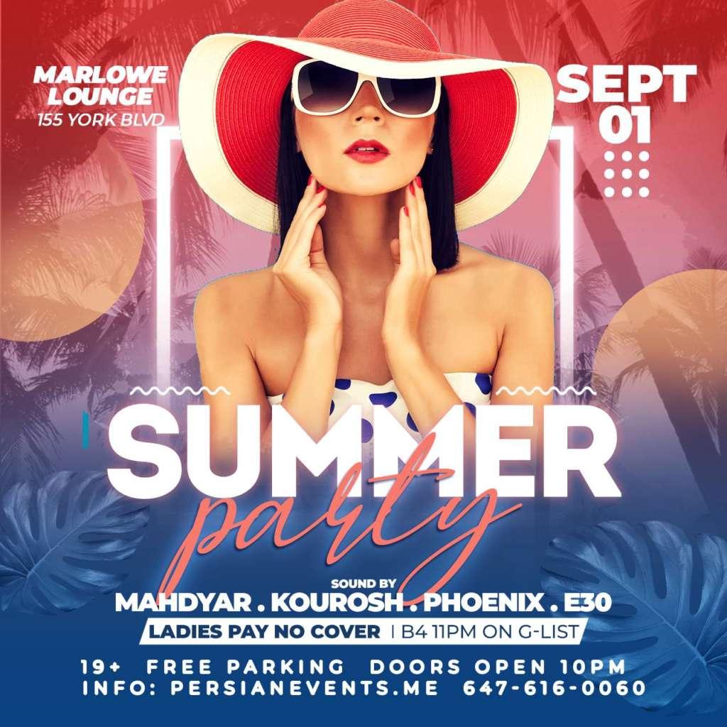 Summer Persian Party at Marlow Toronto